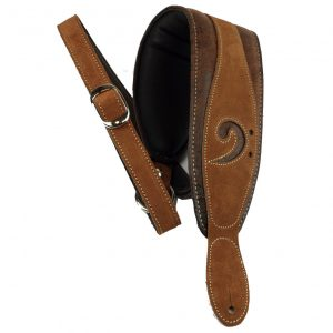 F Clef Bass Strap X-Clef Worn (Brown)